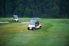 Two golf carts Royalty Free Stock Photo