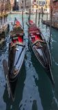 Two Gondola. On a small canal in Venice Italy Royalty Free Stock Images