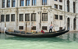 Two gondolas Royalty Free Stock Photos
