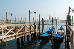 Two gondolas in Venice Royalty Free Stock Image