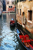 Two gondolas in Venice. Royalty Free Stock Photos