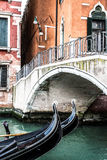 Two Gondolas in Venice (Italy) Stock Images