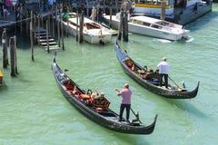 Two gondolas on work Stock Images