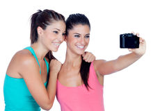 Two good friends getting a photo Royalty Free Stock Photo