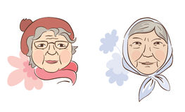 Two good grandmother Royalty Free Stock Photo