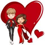 Two gorgeous couple Stock Image