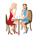 Two gossip girls Royalty Free Stock Photo