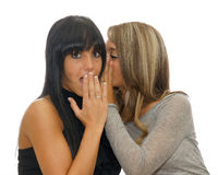 Two gossiping girls Stock Images