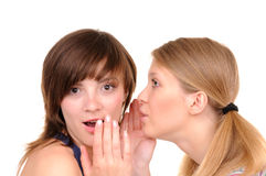 Two gossips Royalty Free Stock Images