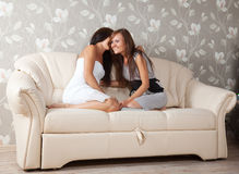 Two gossips women Stock Photography