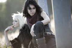 Two goth women Stock Photography