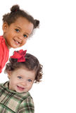 Two gracious baby girls Stock Photography