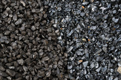 Two grades of coal Stock Image