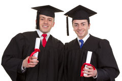 Two graduates Royalty Free Stock Photo