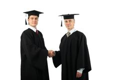 Two Graduates Shaking Hands Stock Photos