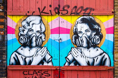 Two Graffiti Women, Graffiti Design, London UK Stock Photography
