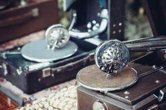 Two gramophone needles Stock Photo