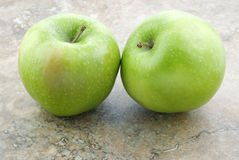Two Granny Smith Apples Stock Images