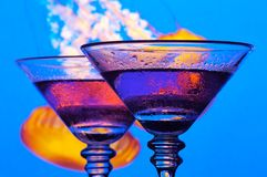Two Grape Martini's stock photos