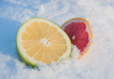 Two grapefruit Stock Photos