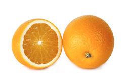 Two grapefruit on white background Stock Photography