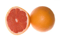 Two grapefruits Royalty Free Stock Photos