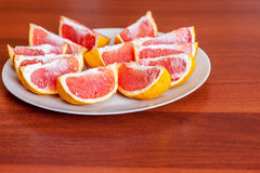 Two grapefruits slices Royalty Free Stock Image
