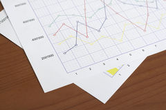 Two graphs Stock Images
