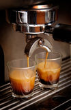 Two grass of coffee Stock Photography