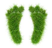 Two Grass Footprints stock images