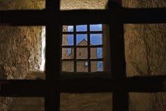 Two grates in the castle    of bellinzona Stock Photo