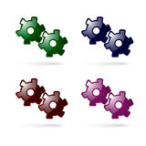 Two gray gears vector Stock Images