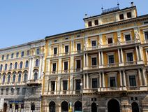 Two great and historic palaces of Trieste in Friuli Venezia Giulia (Italy) Royalty Free Stock Photos