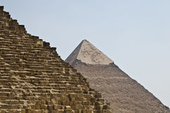 Two great pyramids. Two of the great pyramids og Giza Royalty Free Stock Photography