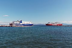 Greek Inter Island Ferries Royalty Free Stock Photography