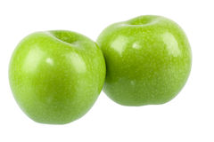 Two green apple Stock Photography
