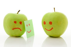 Two green apples Royalty Free Stock Photos