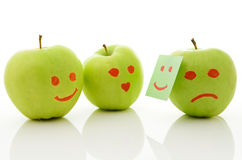 Two green apples Royalty Free Stock Images