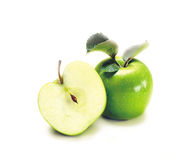 Two Green Apples Stock Photography