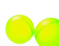 Two Green Balls. On a white background Stock Photo