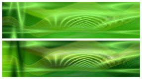Two Green Banners Stock Photos