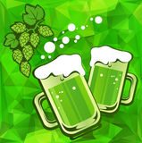 Two green beers Royalty Free Stock Images