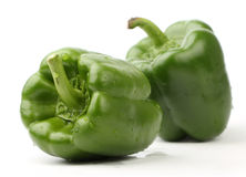 Two green bell pepper