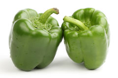 Two green bell pepper Stock Image