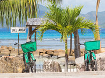 Two green bicycle Royalty Free Stock Image