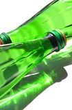 Two green bottles Stock Images