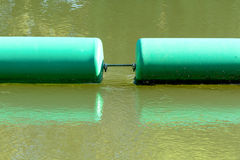 Two green buoys Royalty Free Stock Photo