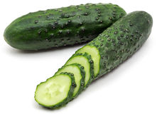 Two green cucumber Stock Photos