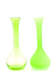 Two green empty vases Royalty Free Stock Photo