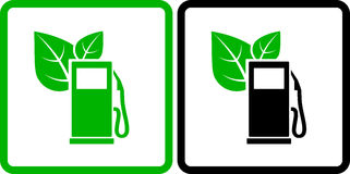 Two green gas station icons Royalty Free Stock Image